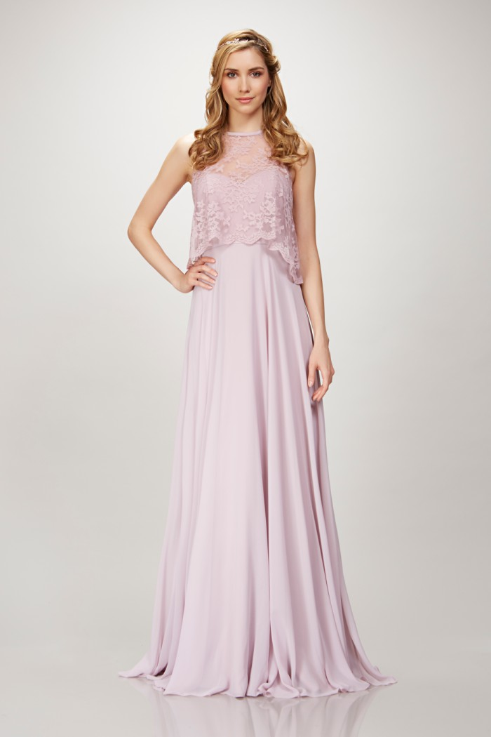 Lace top bridesmaid dress | Theia Bridesmaids