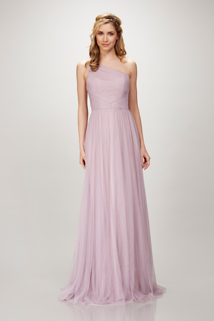 One Shoulder Lavender Bridesmaid Dresses