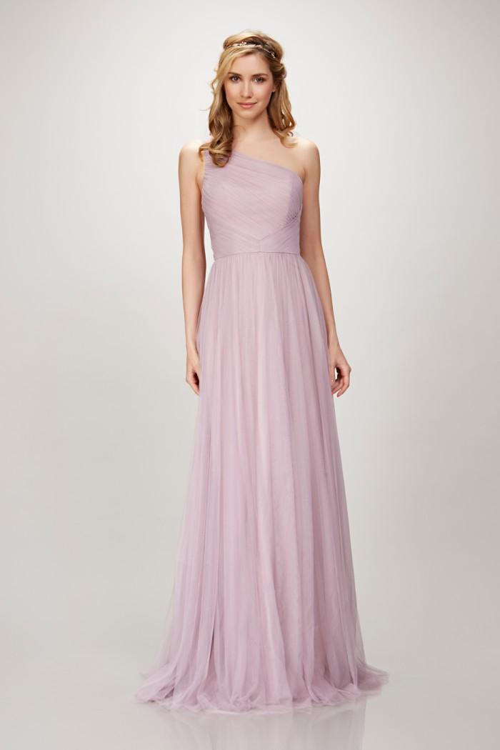 One Shoulder Lavender Bridesmaid Dresses