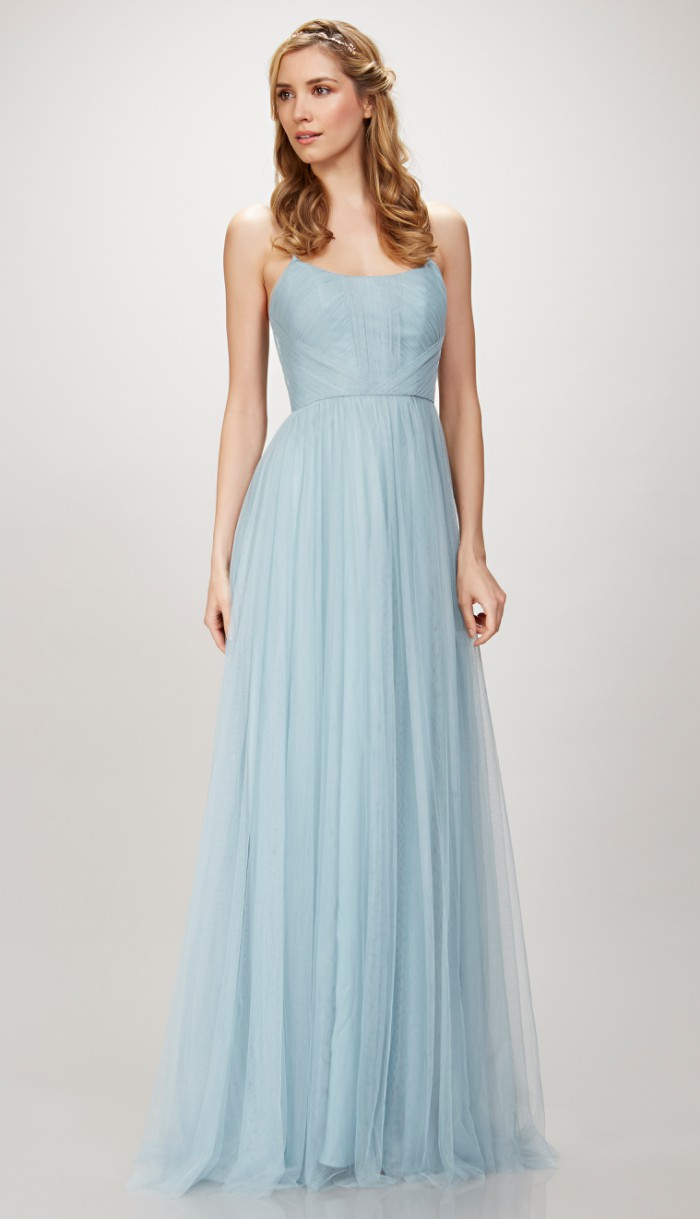 Sea Blue Bridesmaid Dress