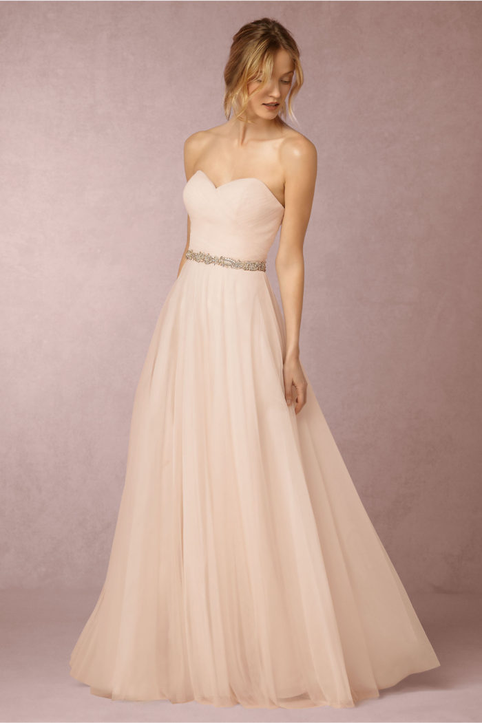 Pink and blush wedding dresses dress for the wedding for Tulle halter wedding dress