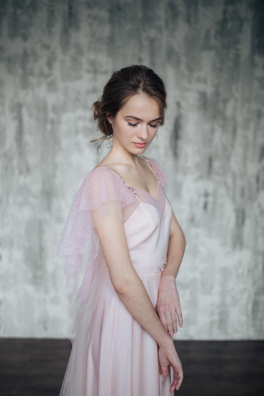 Detail of Pink Wedding Dress