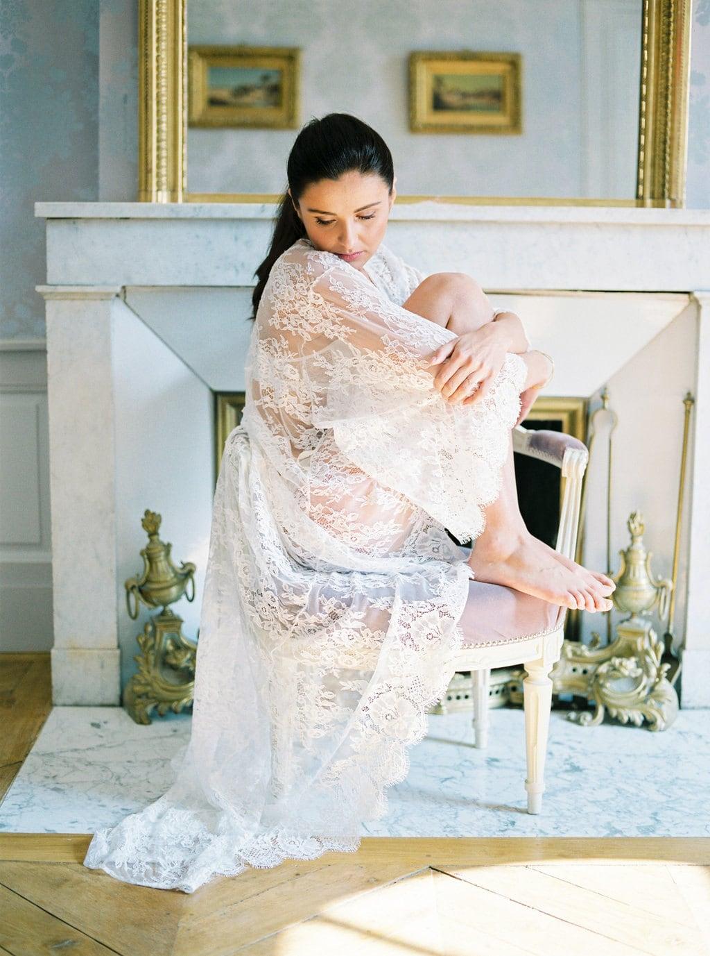 lace wedding robe for honeymoon