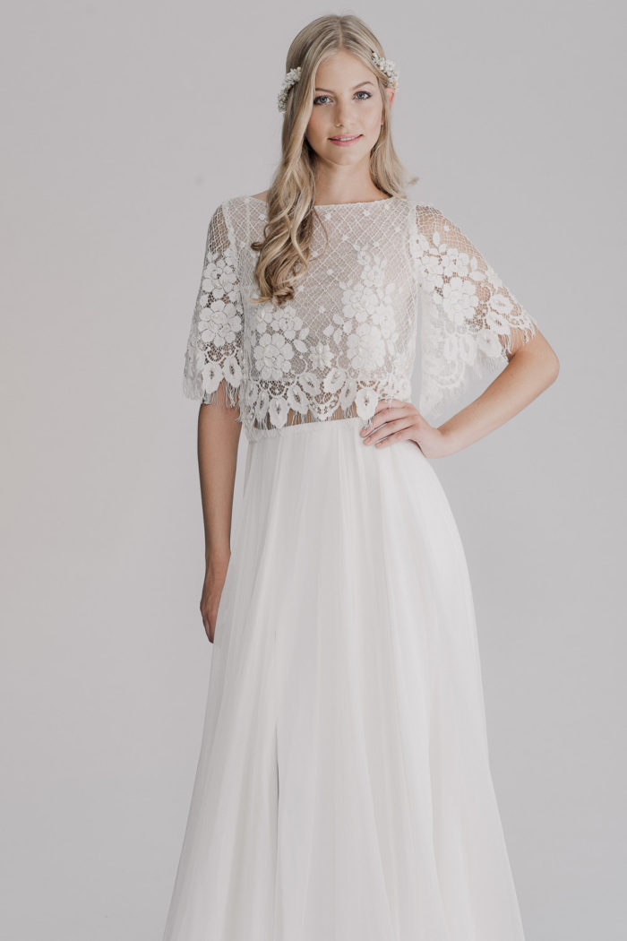 Two piece wedding dress | RISH Bridal