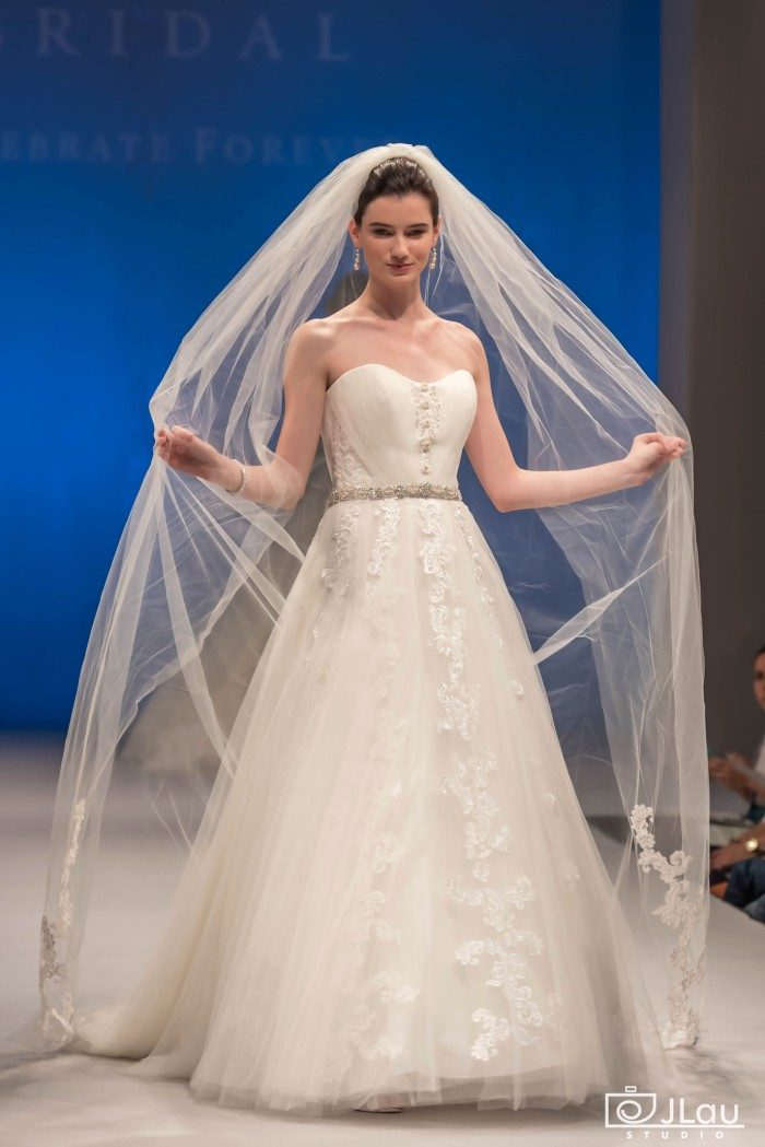 Tulle and satin strapless ballgown wedding dress | Style 2271 Mayflower Wedding Dress by Casablanca Bridal