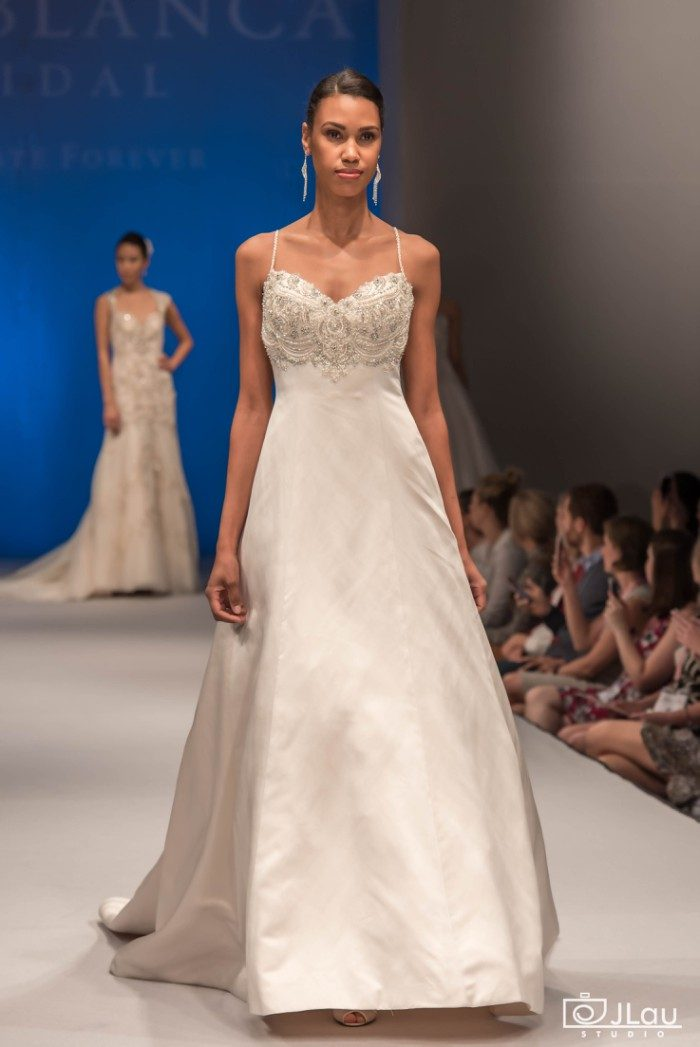 Empire waist beaded bridal gown | 2275 Bluebell Casablanca Bridal