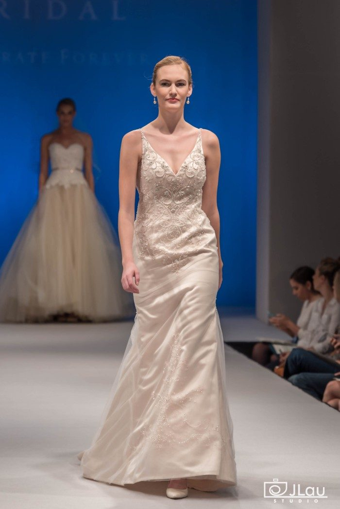 Deep V-Neck Beaded Wedding Dress | Casablanca Bridal Style 2280 Buttercup
