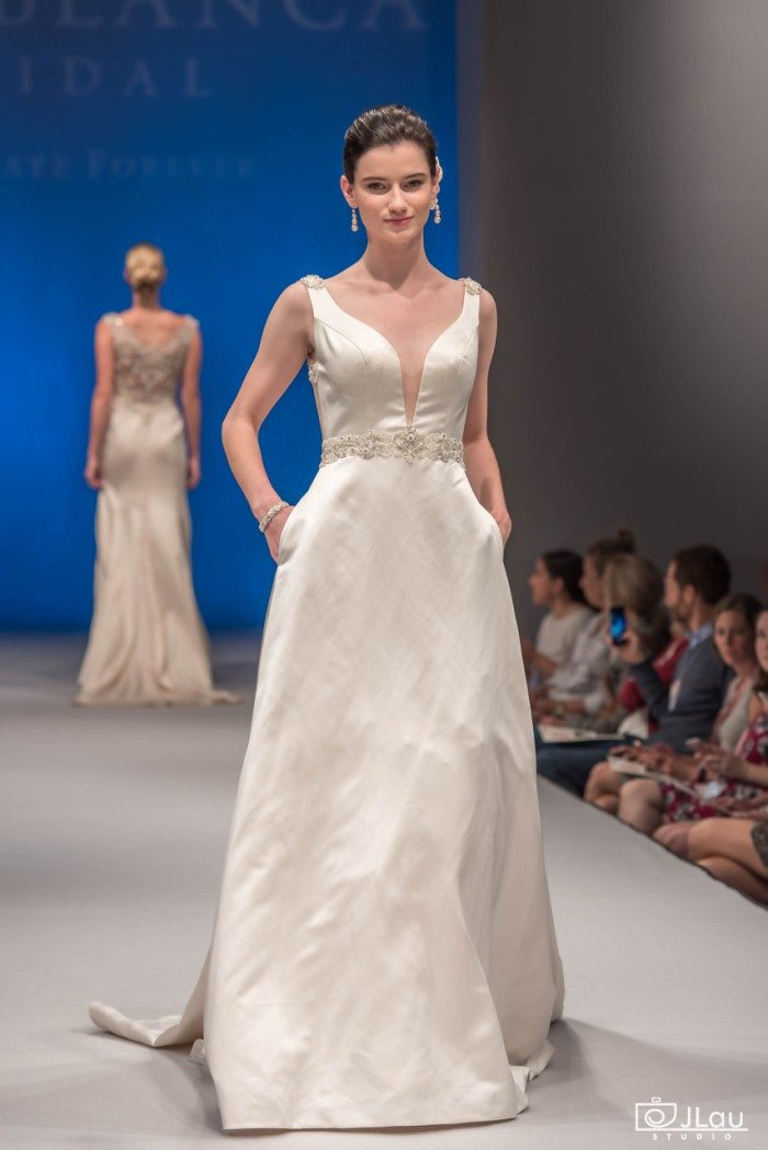 Duchess Satin Wedding Dress | Style 2285 Viola by Casablanca Bridal