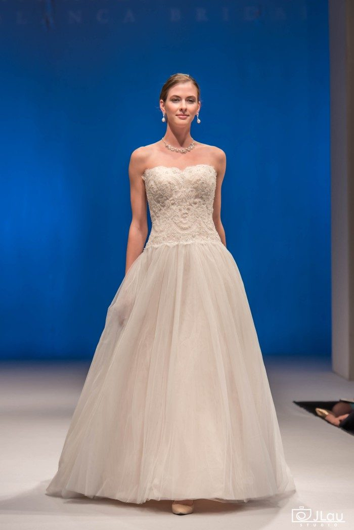 Strapless A-line Tulle Bridal Gown | Wedding Dress Style BL217 Patience from Beloved by Casablanca