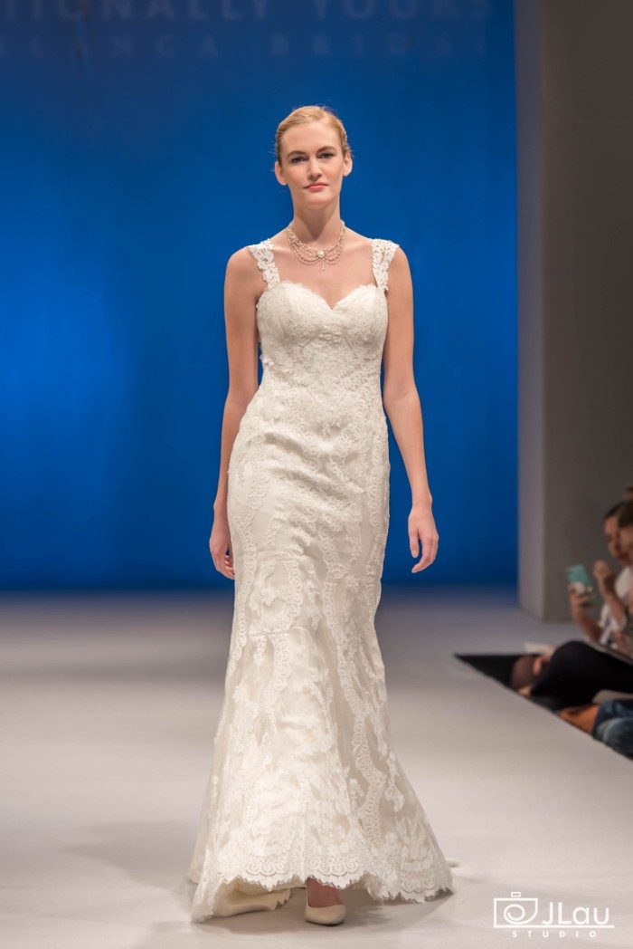 Lace strap wedding dress | Beloved by Casablanca Bridal
