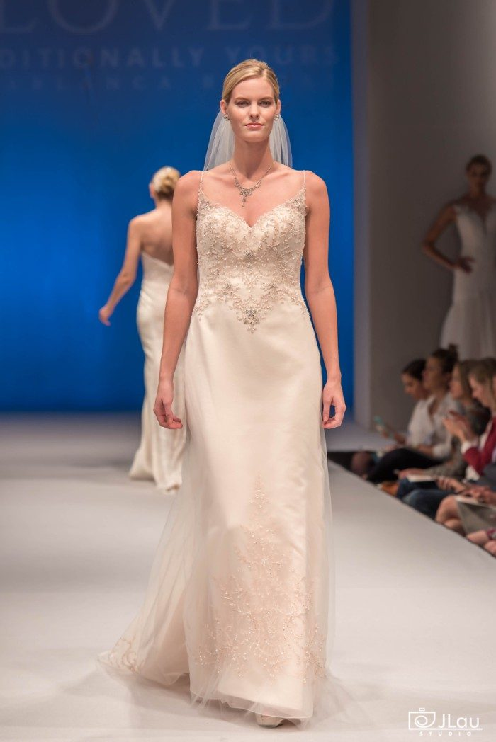 Rose gold wedding dress | Beloved by Casablanca Bridal
