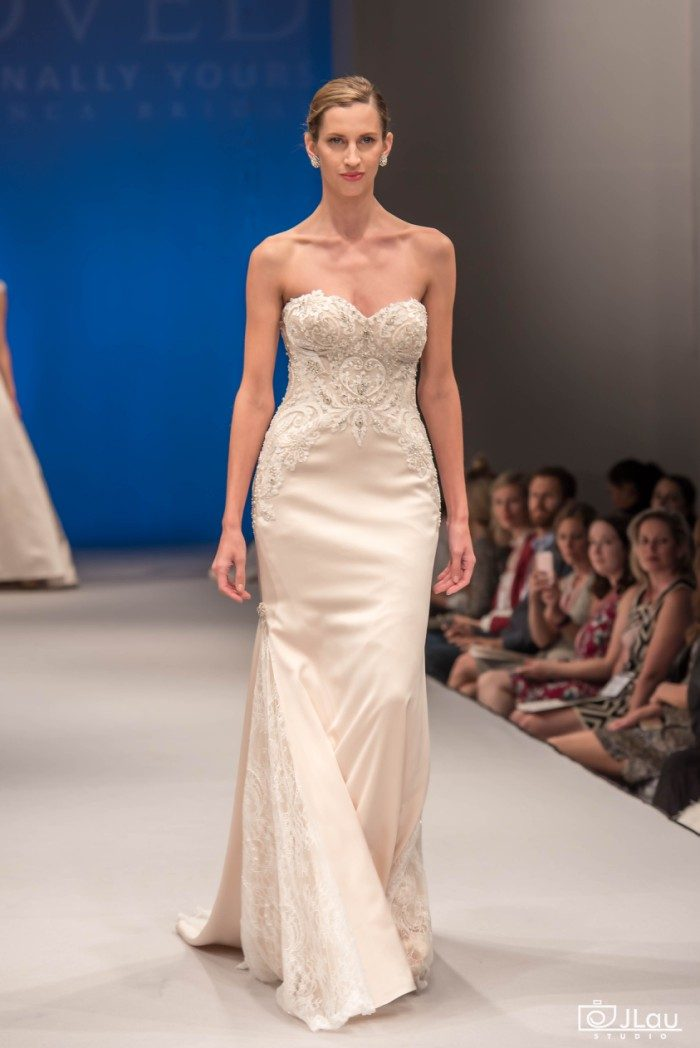 Semi sheer bodice wedding dress | Style BL224 Confidence Beloved by Casablanca Bridal