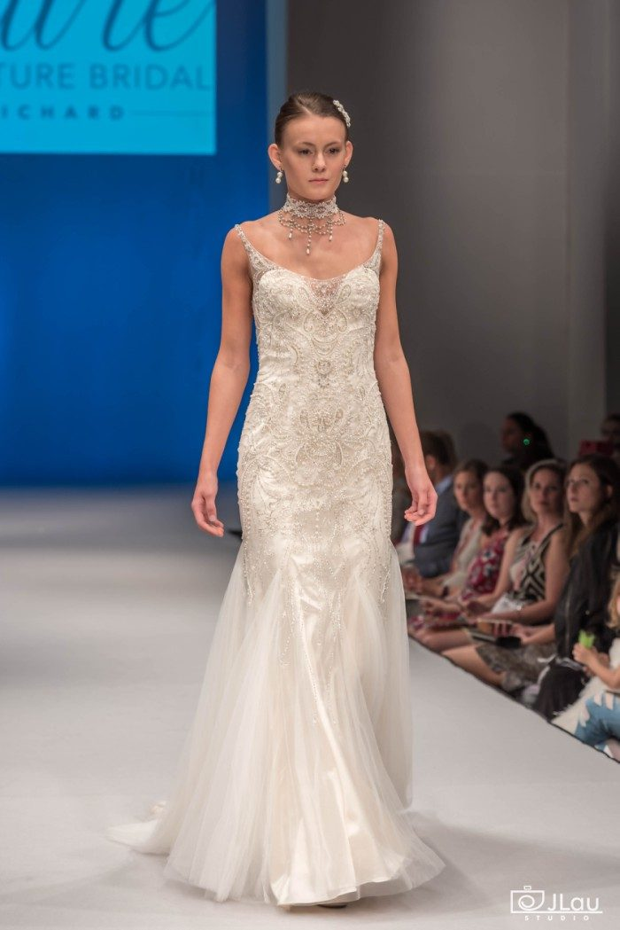 Richly beaded wedding dress Style C113 Evangeline
