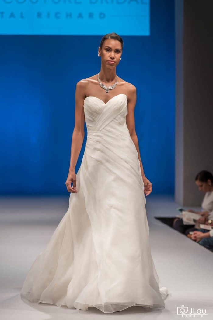 Criss Crossed Strapless Organza Wedding Dress | C114 Daniella