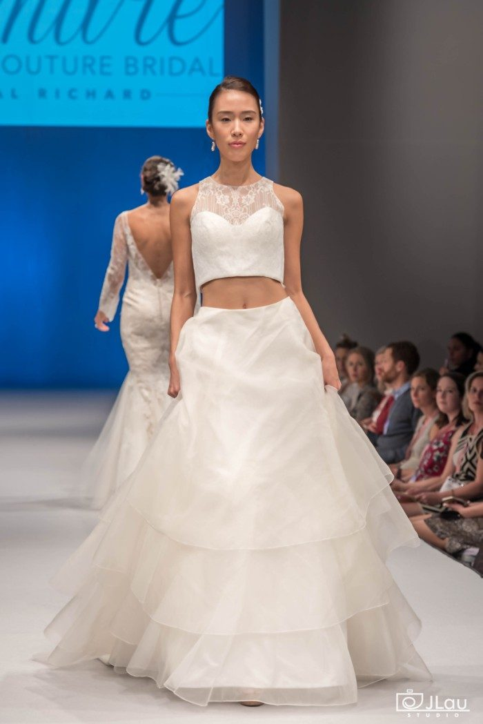 Two Piece Wedding Dress | 'Isabelle' Amare Couture
