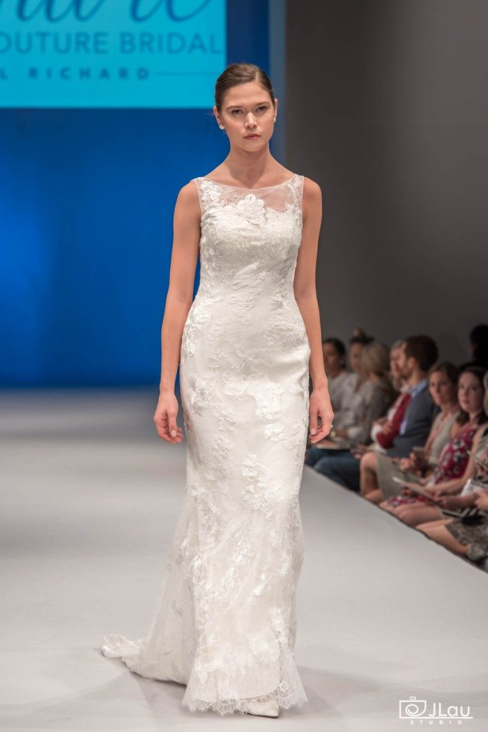 Bateau Neckline FIt and Flare Wedding Dress || Style C117 Natalia by Amare Couture