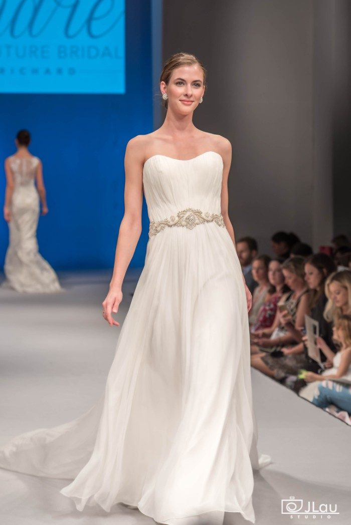 A line strapless wedding gown | C118 Sofia Wedding Dress by Amare Couture