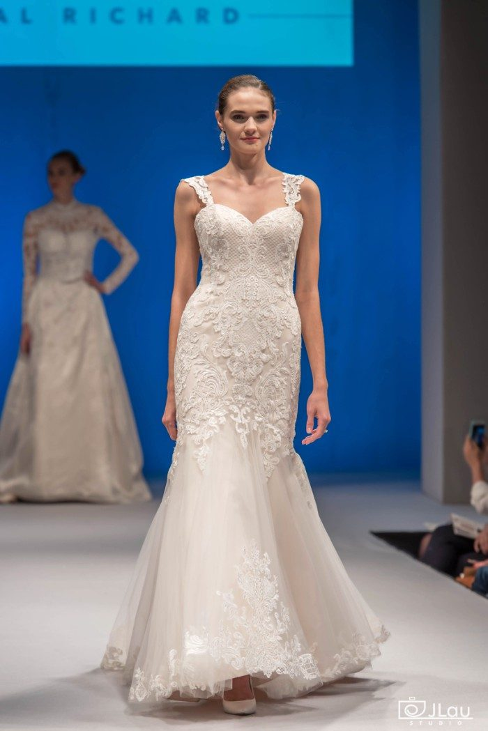 Lace Fit and Flare Wedding Gown | C120 Juliana by Amare Couture