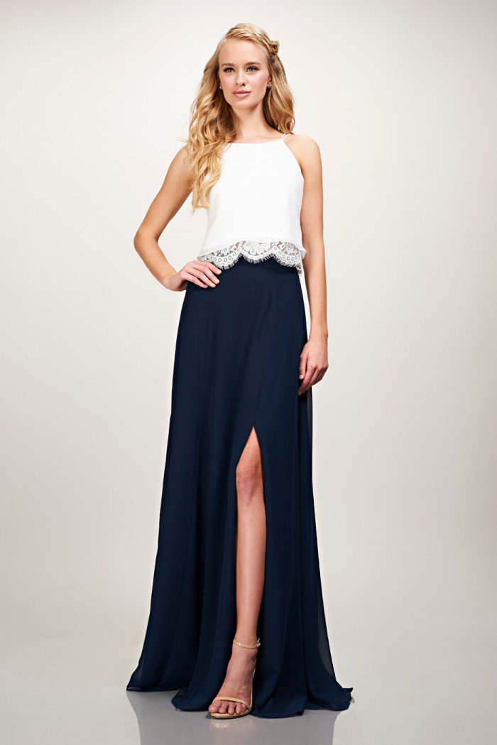 Bridesmaid Separates with Lace Top