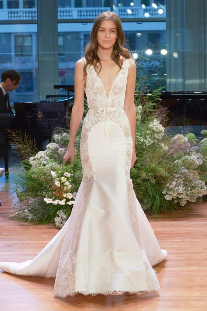 8c621371e99 Sheer Lace Wedding Dress | 'Remember' by Monique Lhuillier | Dress ...