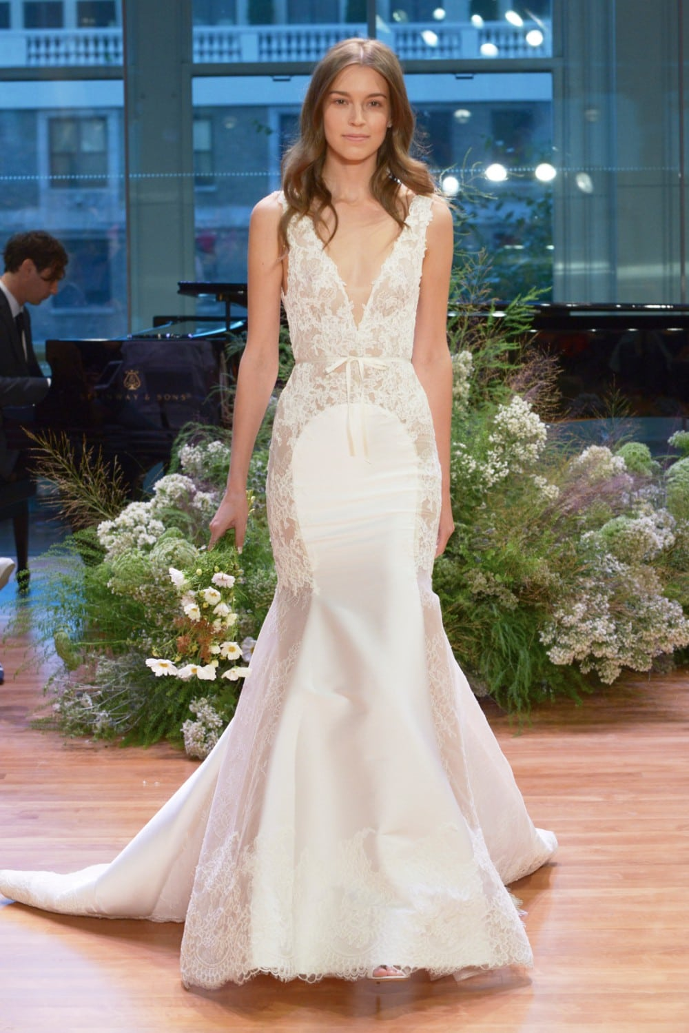 Sheer Lace Wedding Dress | 'Remember' by Monique Lhuiller