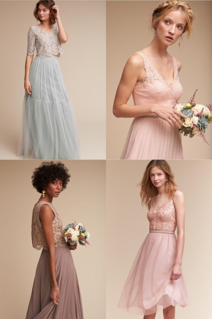 Lace Bodice Bridesmaid Dresses