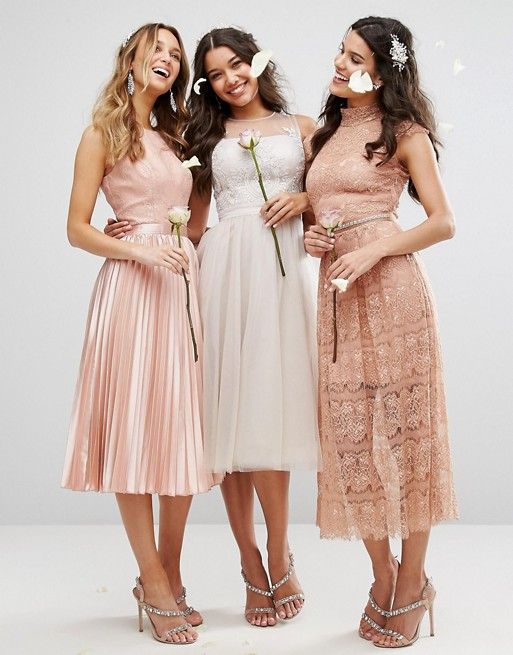 Mix and Match Lace Bridesmaid Dresses