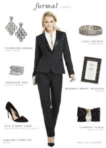 Women's Tuxedo for a Wedding or Black Tie Event