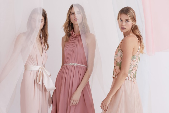 Bridesmaid Dresses in Shades of Pink from BHLDN