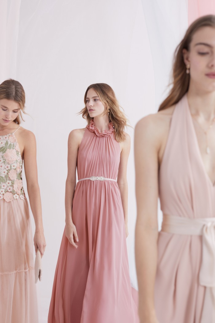 BHLDN Bridesmaid Dresses in Shades of Pink