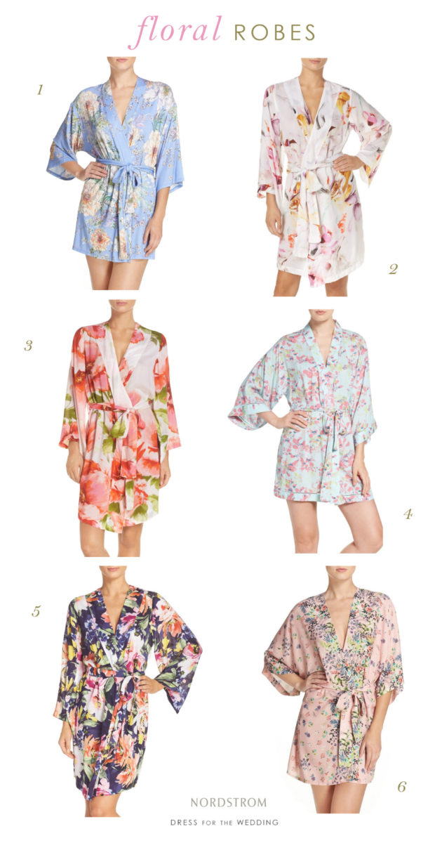 Floral Robes for Weddings