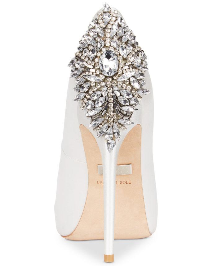 Crystal Back Wedding Shoes