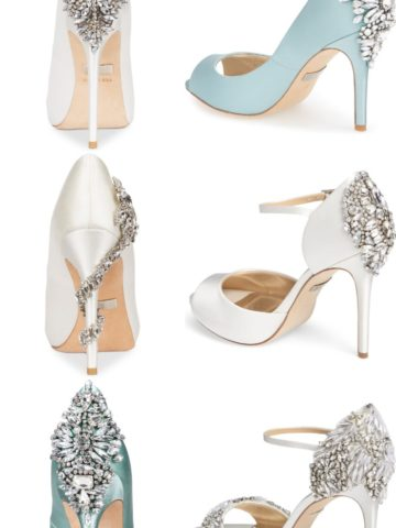 Bridal Shoes with Rhinestones on the Back