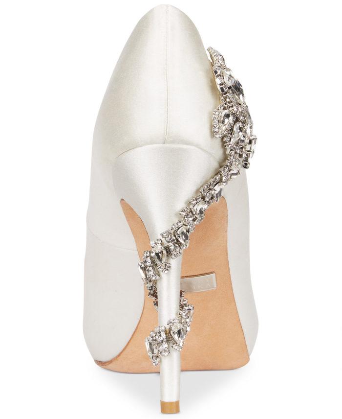 Rhinestone Detail on Wedding Shoes