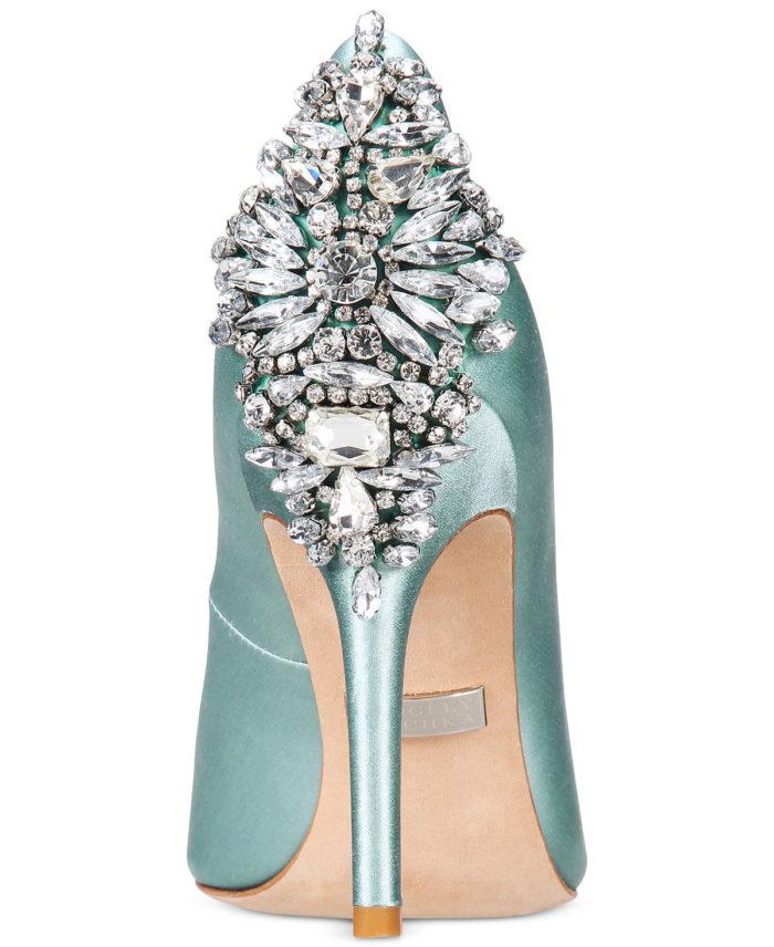Pale Blue Crystal Back Heels