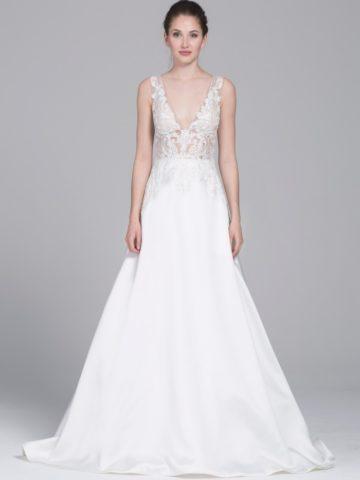 Ceres, a ballgown wedding dress with sheer bodice