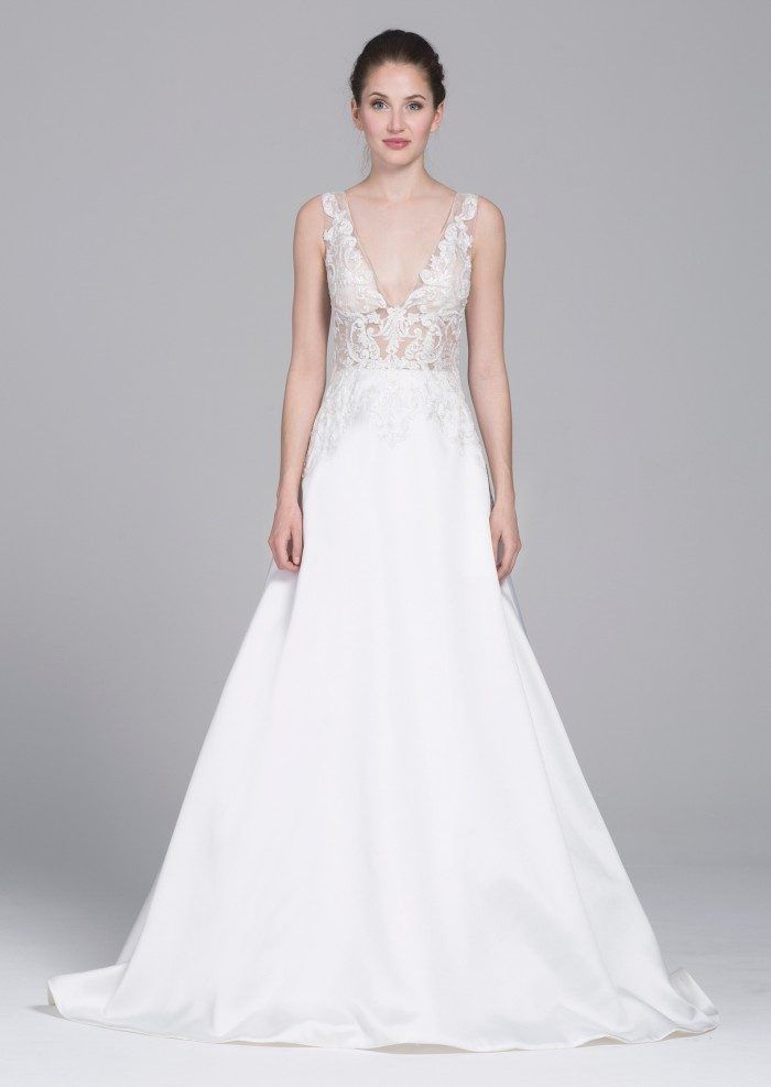 Ceres, a ballgown wedding dress with sheer bodice