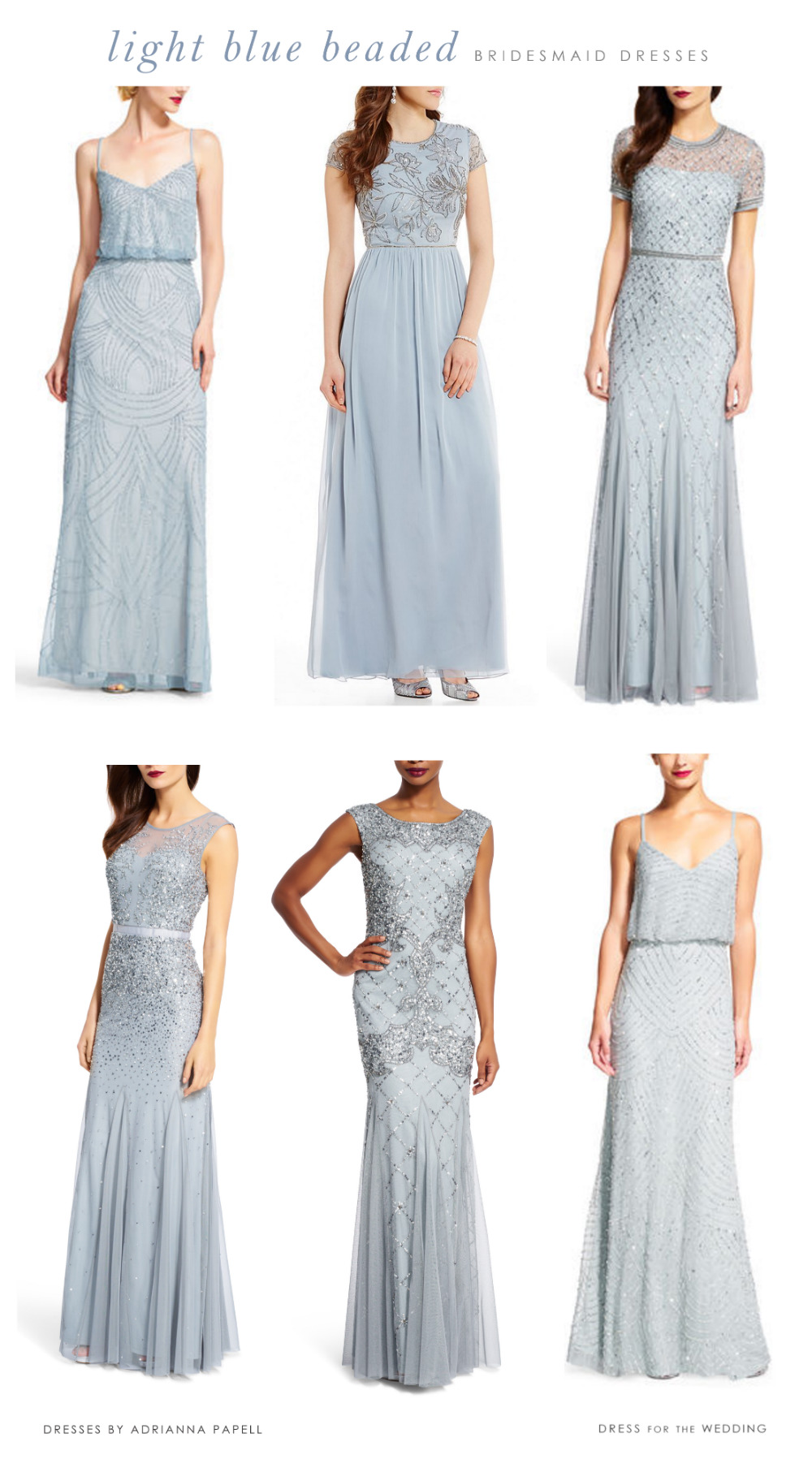 Light blue mix and match bridesmaid dresses dress for the wedding its easy to shop by color see all the blue dresses here and style and there is range of sizes and lengths ombrellifo Image collections