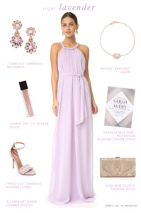 Maxi Dress in Lavender for a Wedding