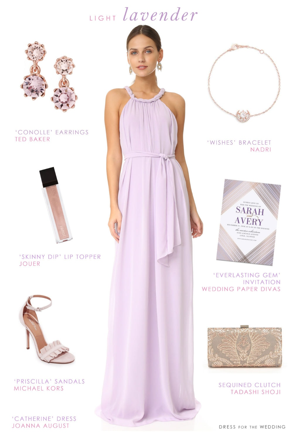 A Lovely Lavender Maxi Dress Dress For The Wedding