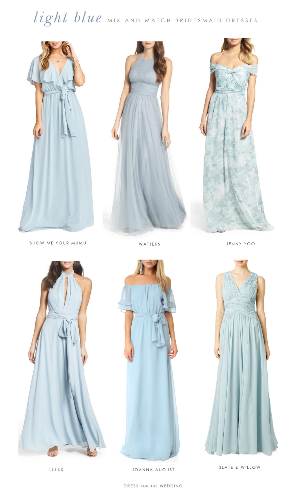 Light blue mix and match bridesmaid dresses dress for the wedding how to mix and match light blue bridesmaid dresses ombrellifo Gallery