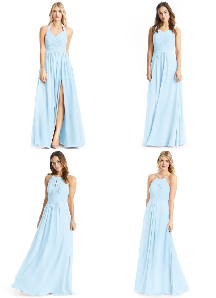 Affordable Light Blue Bridesmaid Dresses
