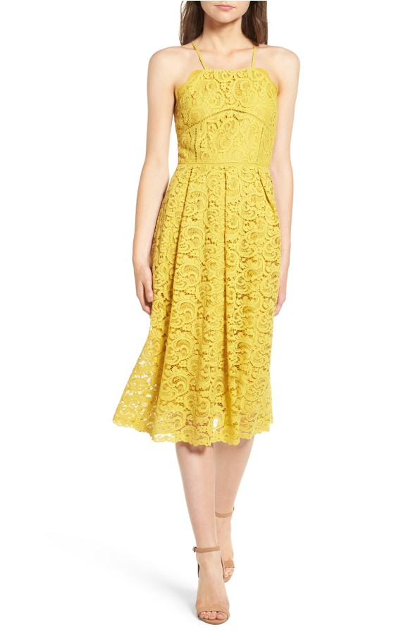 Daytime Spring Wedding Guest Yellow Dress