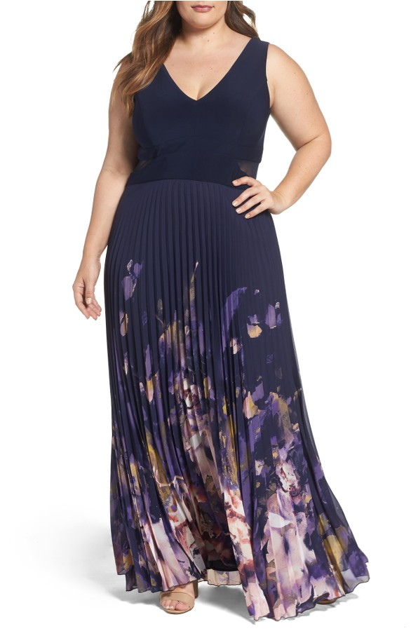 Plus Size Navy Maxi for Spring 2017