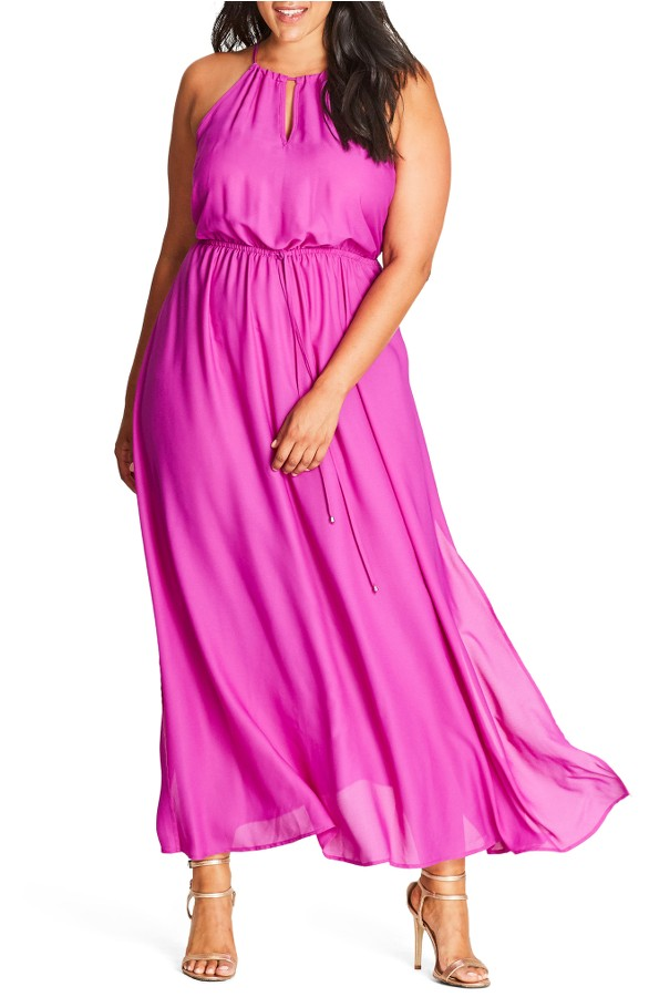 Pretty Plus Size Dress for Spring Weddings