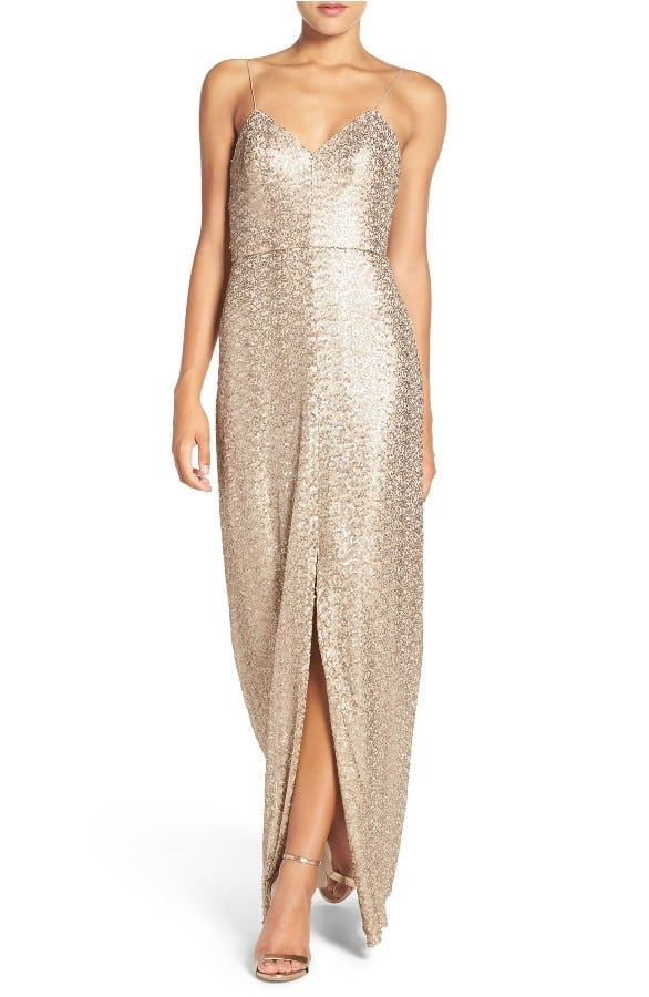 Gold Sequin Dress on Sale