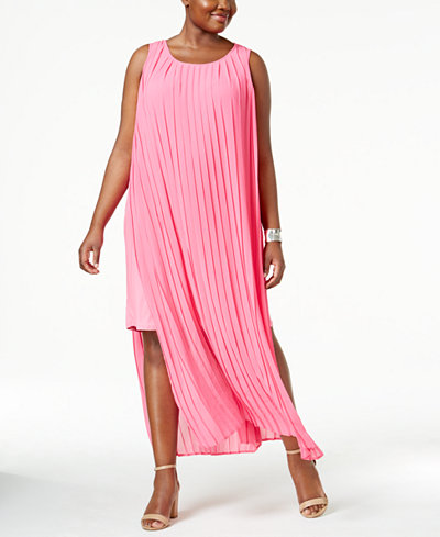 Pink Plus Size Daytime Wedding Guest Dress