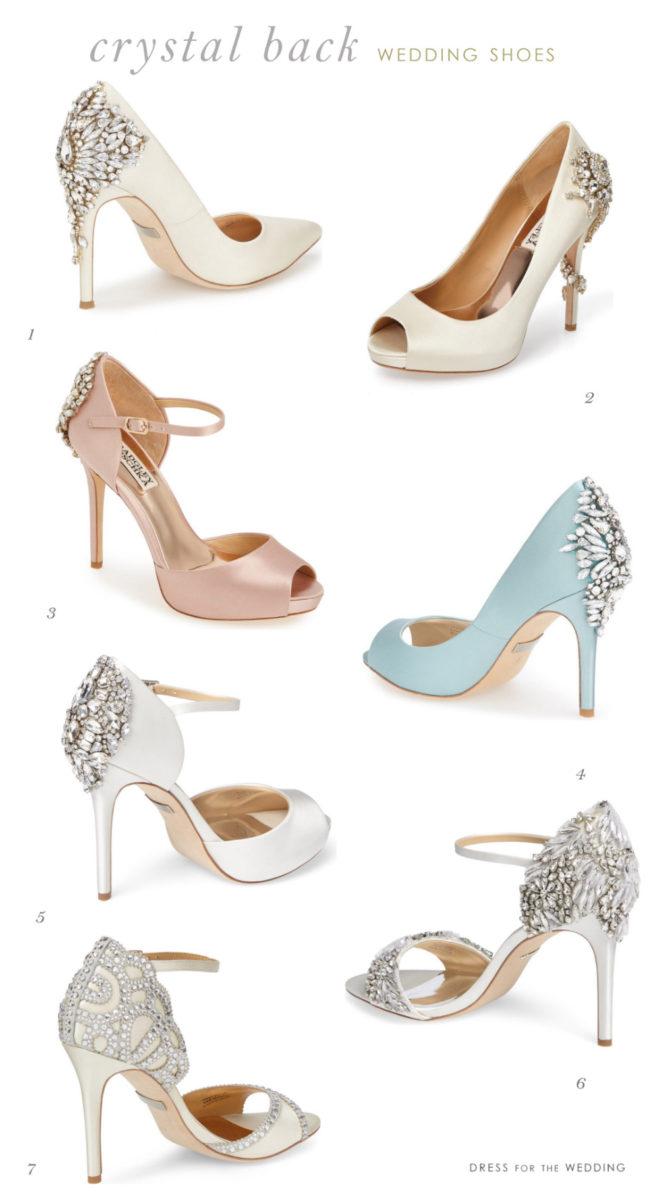 Crystal Back Embellished Wedding Shoes