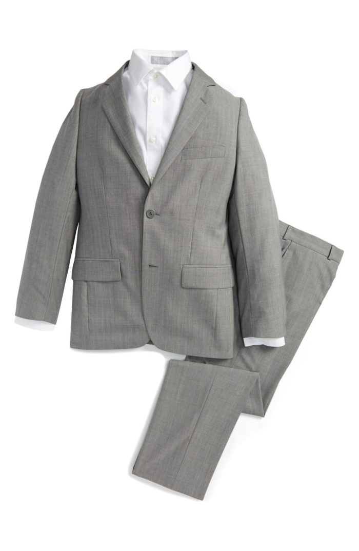 Gray Jacket and Pants Suit for Ring Bearer