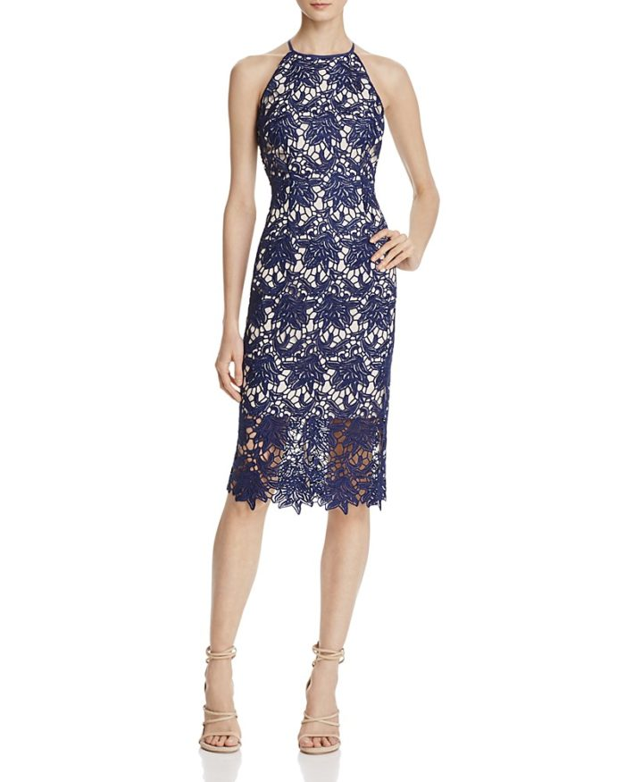 Navy Blue Lace Cocktail Dress for Spring 2017 Guest of Wedding